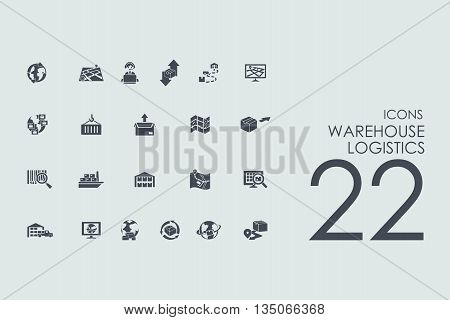 warehouse logistics vector set of modern simple icons