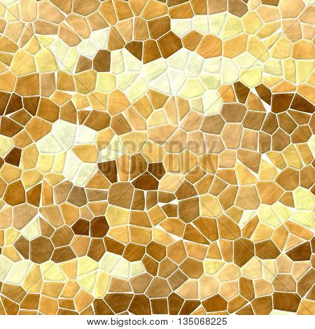 natural brown beige mosaic pattern texture background with white grout