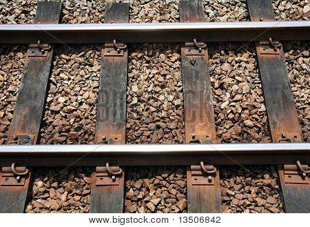 primer plano del ferrocarril