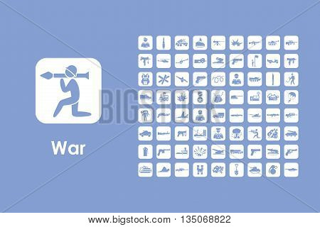 It is a set of war simple web icons
