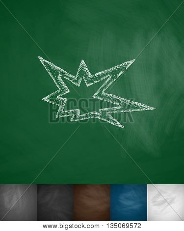explosion icon. Hand drawn vector illustration. Chalkboard Design