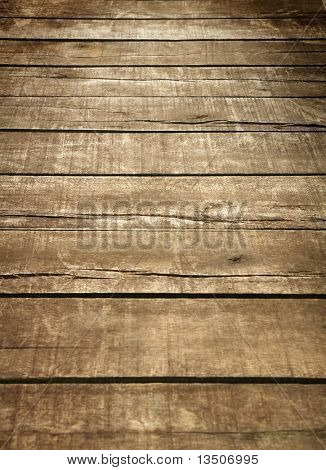 perspective of brown wood texture