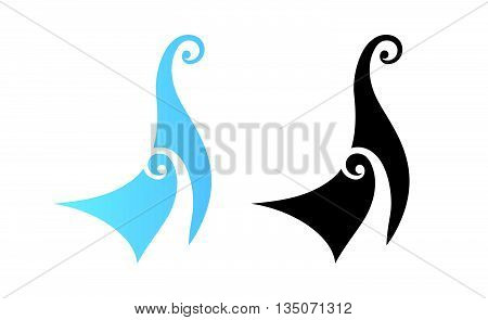 Viking's Drakkar Illustration - Fore side of Boat, Creative Vector Icon isolated on white