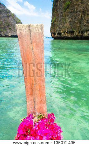Thai Vessel Seascape Serenity