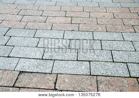 Bricks and stones city pavement pattern road texture