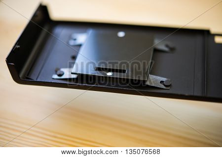 back cover film camera on a wooden table