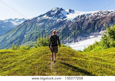 Ascent to Donoho peak, Alaska