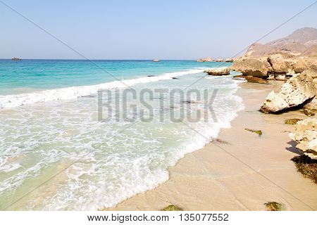 In Oman    Gulf Rock And Beach
