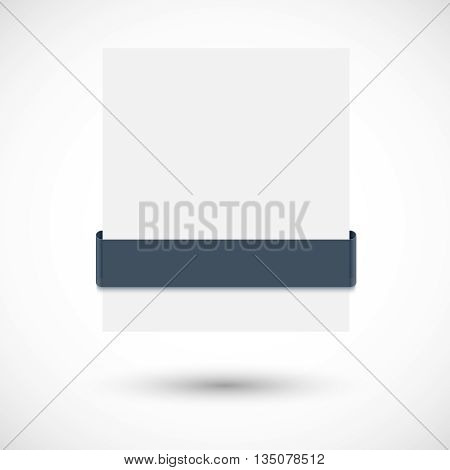 White paper banner with black ribbon for black friday sale