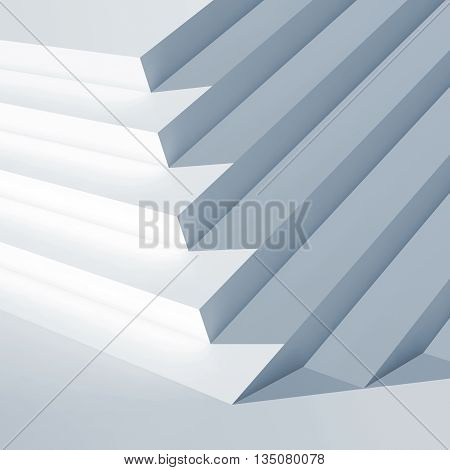 3D White Contemporary Interior Fragment