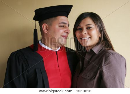 University Graduation Celebrates His Graduation With His Girlfriend