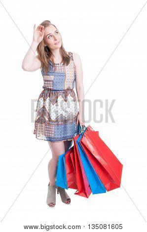 Beautiful Shopaholic Tired Of Shopping Carrying A Lot Of Bags