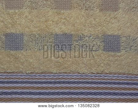 Terry fabric with yellow stripes pictures, closeup