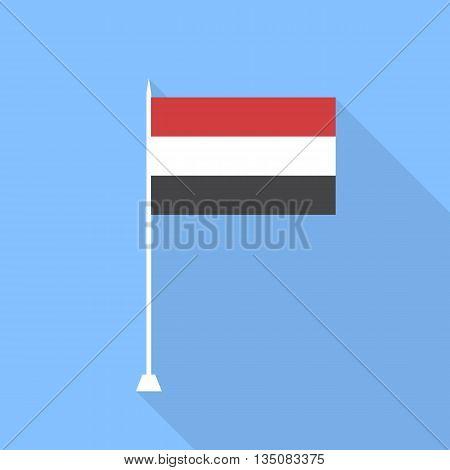 Flag of Yemen. Vector illustration flat style .