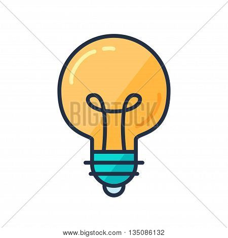 Great Idea Concept with Light Bulb Shape. Thought and imagination symbol. Vector
