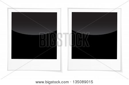 Blank Photo Frames For Inserting On Black Space Any Image You Like