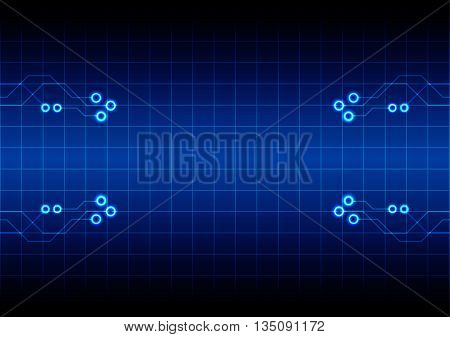 abstract circuit with grid technology concept background. illustration vector