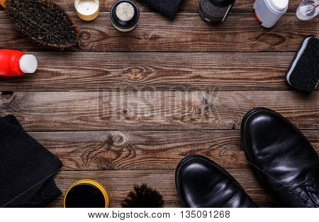 Brushes and wax, shoes  accessories