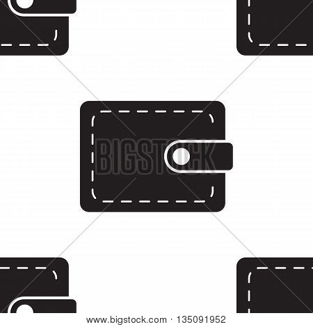 Pouch Wallet Icon Seamless Pattern