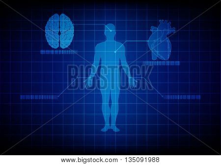 abstract medical body technology. illustration vector design.