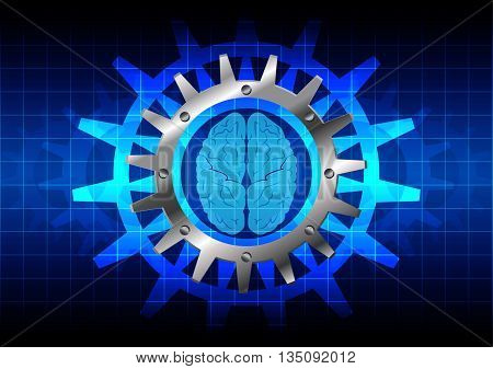 abstract concept background with brain. illustration design