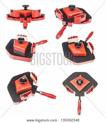 Professional angle clamp isolated on white background