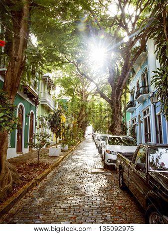 Street in old San Juan Puerto Rico