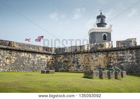 Castillo San Felipe del Morro in old San Juan Puerto Rico