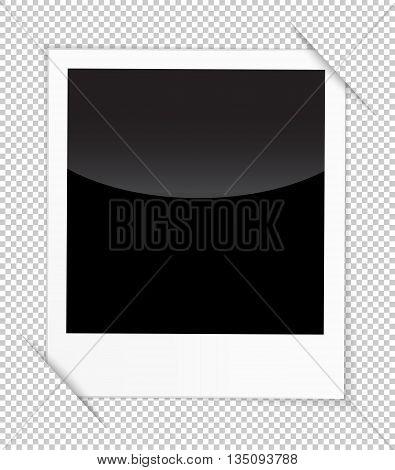 Retro photo frame isolated on white background. Vector illustration
