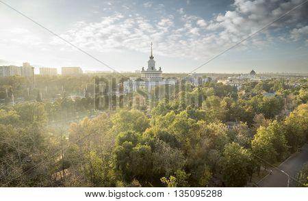 Park VDNH in Moscow city in Russia