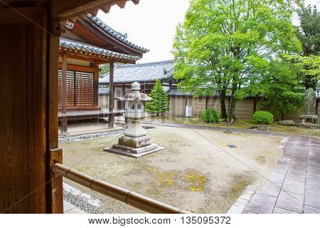 Part of Horyu-ji Temple in Nara, Unesco world Heritage site, Japan