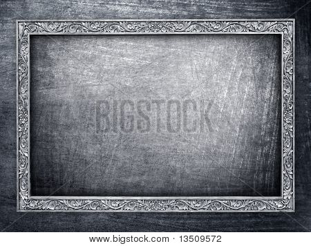 metal frame background