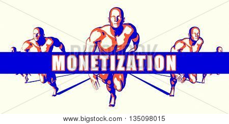 Monetization as a Competition Concept Illustration Art 3d Illustration Render