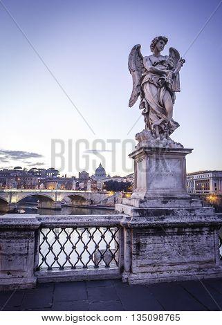 Sculpture of angel on Pons Aelius Bridge