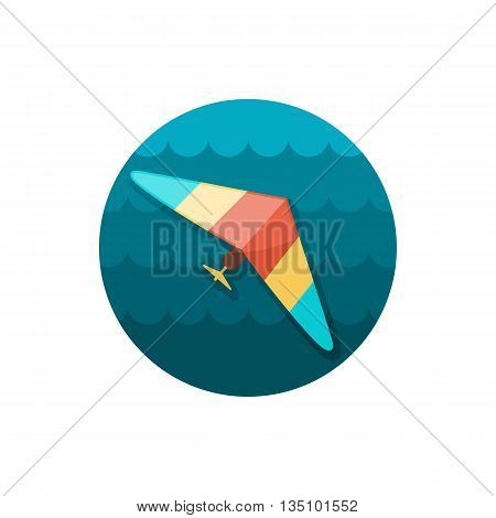 Hang Glider vector icon. Travel. Summer. Summertime. Holiday. Vacation, eps 10