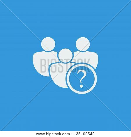 User Help Icon In Vector Format. Premium Quality User Help Symbol. Web Graphic User Help Sign On Blu