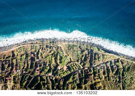 Madeira Coast - Cliffs In Achadas Da Cruz, Portugal