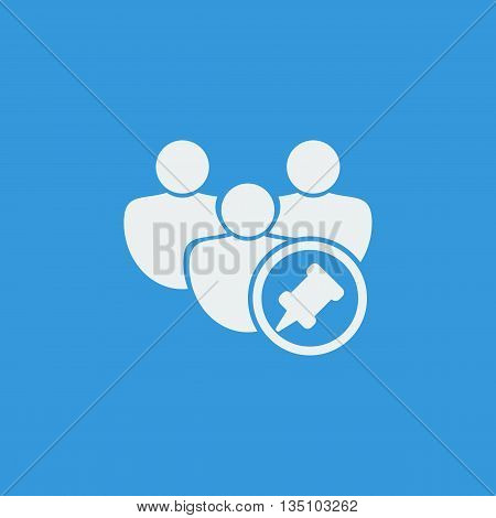 User Pin Icon In Vector Format. Premium Quality User Pin Symbol. Web Graphic User Pin Sign On Blue B