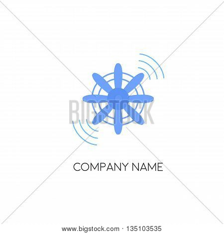 Business logo template. Propeller vector illustration. Propeller aircraft vector illustration. Vector.