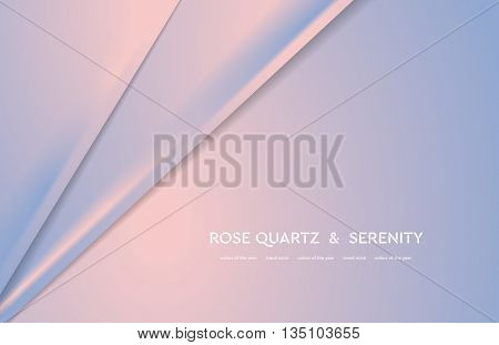 Abstract vector illustration with soft lines. Trend colors of the year 2016 rose quartz and serenity. Bright stripes background