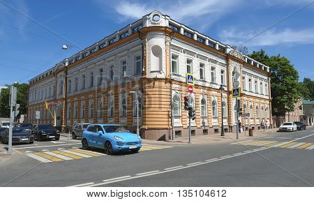 MOSCOW, RUSSIA - MAY 31, 2016: Building of the Spanish Embassy in the Russian Federation in an old mansion built in 1876 Bolshaya Nikitskaya Street 50/8