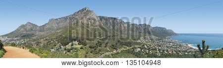 View Of Table Mountain From Lions Head, Cape Town South Africa