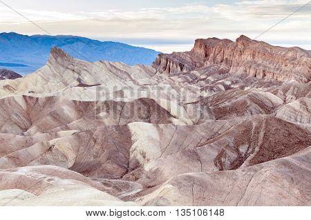Zabriskie Point in Death Valley National Park USA
