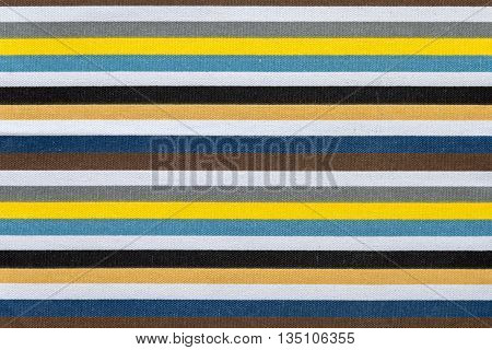 fabric texture of colored stripes in horizontally