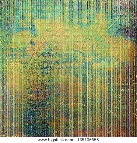 Grunge texture in ancient style, aged background with creative decor and different color patterns: yellow (beige); brown; green; blue; red (orange); gray