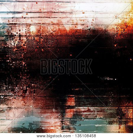 Distressed texture with ragged grunge overlay. Wrinkled background or backdrop with different color patterns: yellow (beige); brown; blue; red (orange); black; white