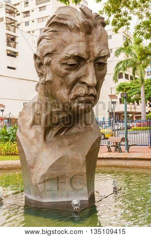 : Monument Of Leon Febre Cordero Ribadeneyra In Guayaquil, Ecuador.
