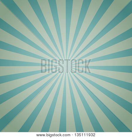 Light blue color burst background. Vector illustration
