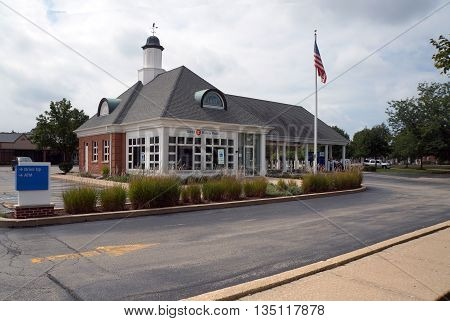 SHOREWOOD, ILLINOIS / UNITED STATES - AUGUST 30, 2015: The BMO Harris Bank offers banking services in Shorewood.