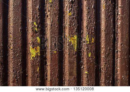 Old Metal Corrugated Background